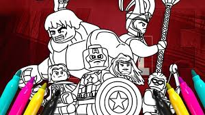 Lego Superheroes Comics Coloring Page Marvel Avengers Coloring