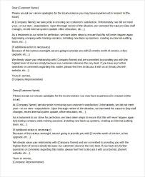 Business Apology Letter For Poor Customer Service Apology Letter Templates In Word 26 Free Word Pdf