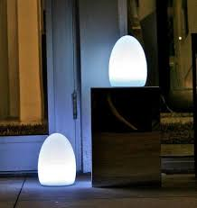 modern garden lighting. garden lights modern fibreglass outdoor egg shaped light lighting y