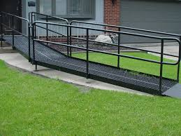 image of the steel ramps for wheelchairs