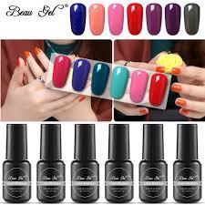 Beau Gel 8 Ml Gel Nagellak Losweken Uv Led Pure Kleuren Nail Art Tips Ontwerp Manicure Semi Permanente Gel Lak Primer