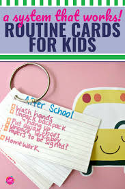 Simple Diy Routine Cards For Kids That Work My Life And