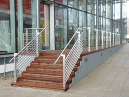external handrails for steps uk. external staircase with flat bar stainless steel frame, infills \u0026 tubular handrail. handrails for steps uk g