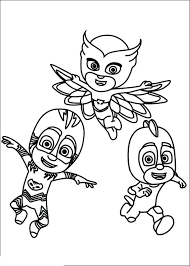 Pj Masks Coloring Page Pages 5 Of Super For Boys Owlette