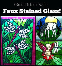 painting glass windows faux stained glass with paint and glue diy stained glass window patterns