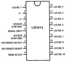 how to build an lm3914 dot bar display driver circuit lm3914 bar dot display driver pinout