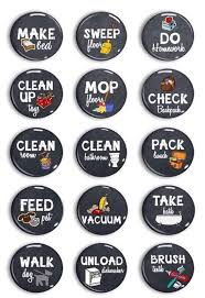 Magnetic Chalkboard Chore Chart Chalkboard Chore Magnets Chore Chart Chores Kids Jobs