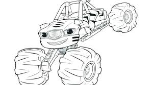Extraordinary Blaze Coloring Pages Free Coloring In Fancy Blaze And