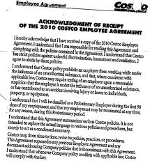 Breach Of Employment Contract Magnificent Costco's Employee Agreement Creates A Contract Claim For Policies