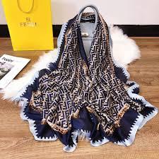 Designer Head Scarf 2019 Fashion Ff Designer Head Scarf Women Girls Hot Sale Brand Pashmina Ff Brand Scarves Newest Silk Scarfs Designer Head Scarf