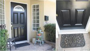 this past weekend we decided to get some more painting in we decided to paint our front door black and get rid of the old red i know there s a about