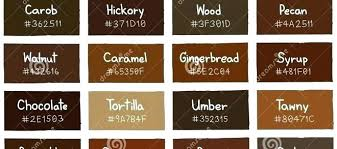 Shades Of Brown Paint Colors Color Chart Dbazaar Co