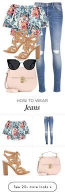 Best 25 Ripped jeans outfit ideas on Pinterest Teen fashion. Floral Top Ripped Jeans Outfit by kgarcia8427 on Polyvore featuring Mother