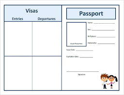 Free Passport Template For Kids Mesmerizing Passport Template Free Word Illustrator Format Download Premium