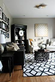 living room rug bold black and white