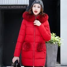 winter jacket women medium long winter jackets parka las fur collar padded coats outwear womens winter jackets