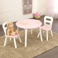 table and chairs beautiful round storage 2 set in white pink kidkraft c