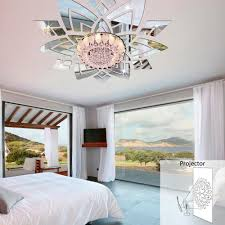 Ceiling Flowers Wall Mirror Stickers-Wall Art-Tac City Goods Co.