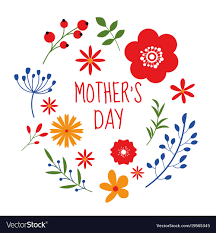 Mother S Day Graphic Design Beautiful Floral Frame Design Mothers Day Isolated