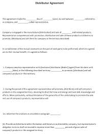 Distributor Agreement Template Australia Simple Exclusive