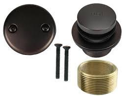 oil rubbed bronze toe touch bathtub drain bath area tub shower trim kit 670579759205
