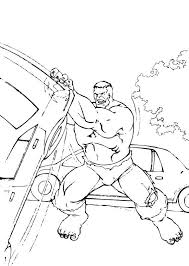 Small Picture Hulk removes cars coloring pages Hellokidscom