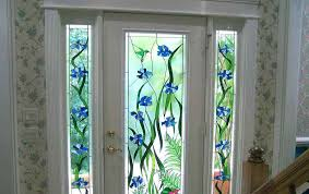 stained glass covering for windows front door window stick on l and tint plastic v stained glass covering for windows