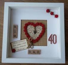 personalised 40th ruby wedding anniversary by scrabbleartbylou ruby wedding anniversary gifts anniversary parties anniversary