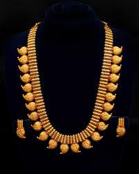 Mango Design Gold Chain Long Gold Mango Necklace Temple Jewellery Savory Jewellery