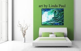 ocean art painting for beach house decor