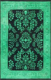 rugsville overdyed jade green rug 12226 12226