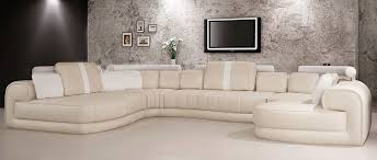 cream and white leather sectional sofa vg129 cream l55