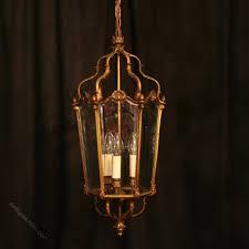 a french bronze three light antique lantern