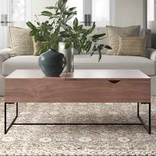 Weathered gray medium square wood coffee table with shelf with 124 reviews and the sauder cannery 44 in. Coso Lift Top Coffee Table Joss Main