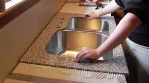Granite Tiles Kitchen Countertops Lazy Granite Kitchen Countertop Installation Video Youtube