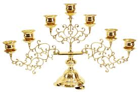 seven branch table candelabrum small