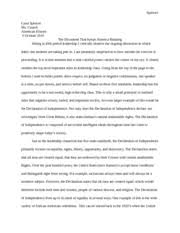 american ideals declaration essay spencer cassi spencer ms  american ideals declaration essay spencer cassi spencer ms cusack american history 5 2010 the document that keeps america running sitting in