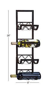 Deco 79 Metal Wall <b>Wine Rack</b>, <b>28</b> by 8-In- Buy Online in Gibraltar at ...