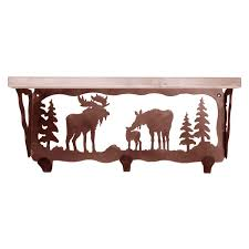 Moose Coat Rack Moose Family Coat Rack with Shelf 100 Inch 8
