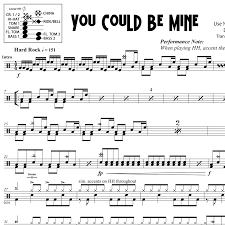 You Could Be Mine - Guns N Roses - Drum ...