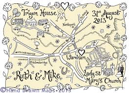 14 best my wedding maps images on pinterest wedding maps Personalised Drawing Wedding Invitations hand drawn maps for your wedding day the perfect personalised keepsake Peacock Wedding Invitations