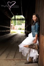 Wedding Dress Covered Bridge Cowboy Boots