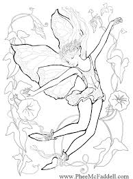 Small Picture Morning Glory Fairy Coloring Page