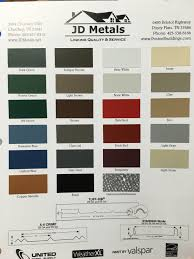 Standing Seam Roof Color Chart Englert Metal Roof Color Chart