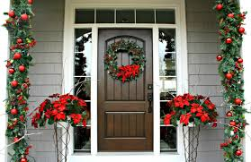 Columns For Decorations Decorations Red And Green Christmas Home Entrance Decoration