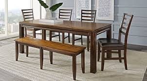 dining room table with leaf. Adelson Chocolate 6 Pc Dining Room Table With Leaf
