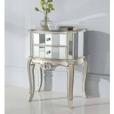 Image Vintage Mirror Bedside Table Wayfair Nightstand Antique Mirrored Nightstand Decoist Tables Awesome Bedroom Design With Mirror Bedside Table