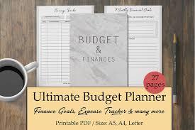 Monthly Finance Planner Finance Planner Budget Planner Bill Tracker