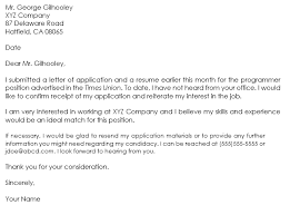 Folow Up Letter Follow Up Letter Samples Learn To Write A Professional