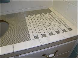 bathroom countertop tile ideas. Elegant Collection Tile Bathroom Countertop Ideas For